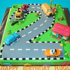64 New Ideas cars birthday party cake mcqueen roads Truck Birthday Cakes, Cars Birthday Parties, 2nd Birthday, Birthday Ideas, Auto Party, Car Party, Transportation Birthday, Car Themes, Creations