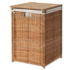 IKEA - BRANÄS, Laundry basket with lining, rattan, The plastic feet protect the laundry basket from moisture. Each laundry basket is woven by hand and is therefore unique. Holds up to 9 kg of laundry. Tested and approved for bathroom use. Interior Ikea, Ikea Lisabo, Laundry Bin, Ikea Laundry Basket, Wicker Laundry Hamper, Laundry Basket With Lid, Ikea Basket, Hamper Basket, Hemnes
