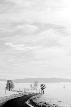 ♂ Black and white Czech way by *tomsumartin Beautiful Roads, Beautiful Streets, Beautiful Places, Beautiful Scenery, Monochrome Photography, White Photography, The Far Side, Places Of Interest, 98