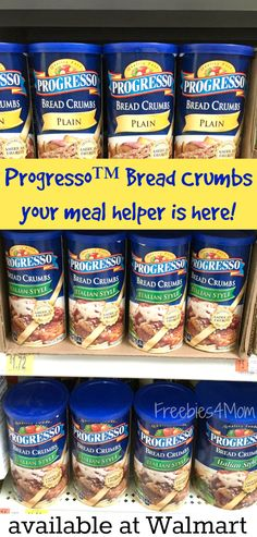 Get a great deal on Progress Bread Crumbs at Walmart! Look for the 40 oz. size Progress Bread Crumbs for only $1.88 which is only 16 cents more than the 15 oz. size Progresso Bread Crumbs that costs $1.72. Get my Campanelle Italian Casserole recipe here: http://freebies4mom.com/campanelle #ad
