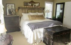 """I love the look of this """"Vintage, Rustic Master Bedroom"""" from downtoearthstyle.blogspot.com"""