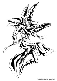 Yu Gi Oh manga coloring pages for kids, printable free | Coloring ...