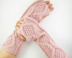 long fingerless gloves fingerless mittens arm warmers by piabarile, $32.00