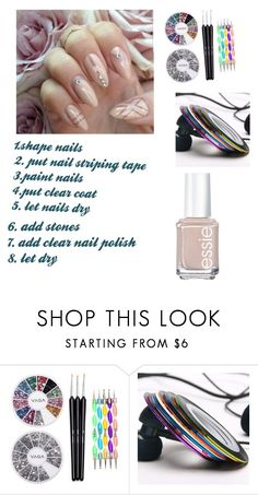 """""""my fall nails"""" by she-is-chantel ❤ liked on Polyvore featuring Essie"""