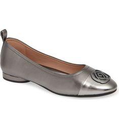 $148.5. TARYN ROSE Flats Penelope Cap Toe Ballet Flat #tarynrose #flats #shoes