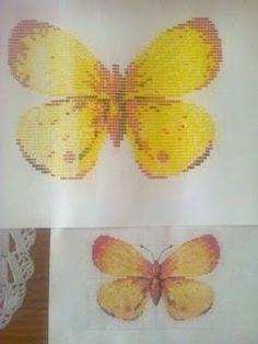 Que les parece esta mariposa ya terminada con mi maquina de escribir?