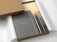 Brand identity and press pack for luxury resort business Aman by Construct, United Kingdom