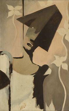 Frantisek Tichy,  Harlequin hanged, oil on canvas
