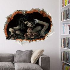 SHARE & Get it FREE | Halloween Zombie 3D Broken Wall Art StickerFor Fashion Lovers only:80,000+ Items·FREE SHIPPING Join Dresslily: Get YOUR $50 NOW!