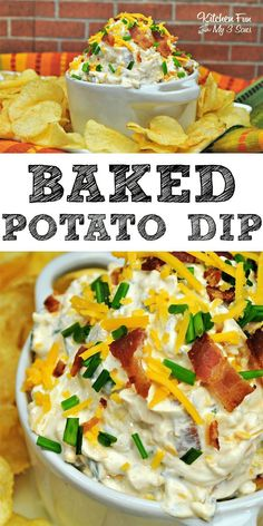 Loaded Baked Potato Dip perfect for summer BBQ and get-togethers! Loaded Baked Potato Dip perfect for summer BBQ and get-togethers! Appetizer Dips, Yummy Appetizers, Appetizers For Party, Appetizer Recipes, Party Dip Recipes, Parties Food, Yummy Snacks, Easy Party Dips, Pizza Dip Recipes