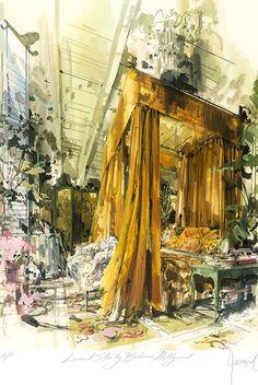 Interior - Jeremiah Goodman - Rendering of Leonard Stanley's Bedroom