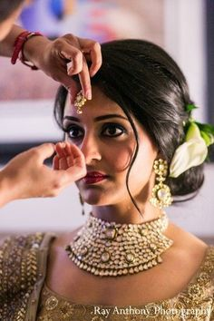 Indian Wedding Bun Hairstyle, one of many to consider for your indian wedding hairstyle Indian Wedding Hairstyles, Bride Hairstyles, Trendy Hairstyles, Fashion Hairstyles, Layered Hairstyles, Indian Bride Hair, Hairstyle Ideas, Bridesmaids Hairstyles, American Hairstyles