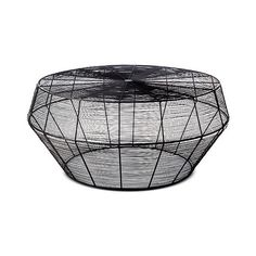 Linhigh Coffee Table Woven Wire ($150) ❤ liked on Polyvore featuring home, furniture, tables, accent tables, black, onyx table, woven furniture, wire coffee table, wire table and black furniture