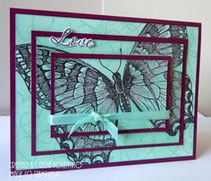 Relax. Make a Card: Swallowtail - Triple Time Stamping Part 2