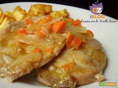 Lombo  di maiale alle carote con patate aromatiche  #ricette #food #recipes