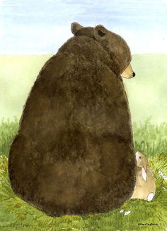 beer met konijn