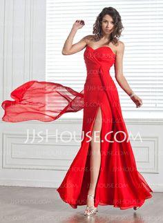 Evening Dresses - $124.99 - Sheath Sweetheart Floor-Length Chiffon Evening Dress With Ruffle (017025912) http://jjshouse.com/Sheath-Sweetheart-Floor-Length-Chiffon-Evening-Dress-With-Ruffle-017025912-g25912