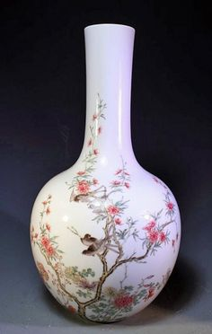 Fine Chinese Famille Rose Porcelain Vase - Maker's Mark