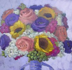 A SWEET GIFT, Acrylic on Canvas, 30  by melanie morrisart