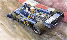 Design by Yuriy Shevchuk-Tyrrell Ford Elf P34 F1 1976 Monaco GP Jody Scheckter