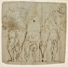 Trois hommes, dans diverses attitudes - CAMBIASO Luca