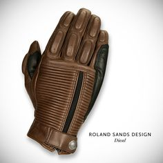 Roland Sands Diesel motorcycle gloves