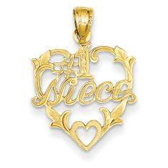 14k #1 Niece In Heart Pendant - http://www.specialdaysgift.com/14k-1-niece-in-heart-pendant/