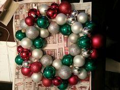 Christmas ornament wreath!