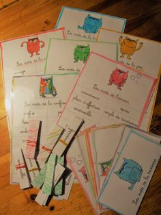 Lexique des émotions Education Positive, Emotion, Les Sentiments, Tot School, Monster, Montessori, Positivity, Activities, Albums