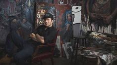"""Many people think artists create their work from what they know or who they are, so many art lovers are curious about Tim Okamura's paintings. He's half Japanese, half British. He was born and raised in Canada. He earned a Master of Fine Arts degree from the School of Visual Arts in New York in 1993. His paintings are featured in films, including """"School of Rock,"""" """"Pieces of April"""" and """"Jersey Girl,"""" and collected by celebrities, including actress Uma Thurman and filmmaker Bryan Greenberg."""