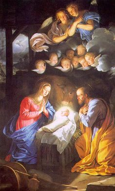 The Nativity, Philippe de Champaigne True Meaning Of Christmas, A Christmas Story, Father Christmas, Family Christmas, Christmas Blessings, Christmas Greetings, Philippe De Champaigne, Lucas 2, Catholic Art