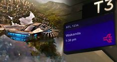 ATL Airport Has Black Panther Flights Departing for Wakanda -- The Atlanta Airport celebrates Marvel's Black Panther by jokingly offering flights to the fictional African nation of Wakanda. -- http://movieweb.com/black-panther-movie-wakanda-flights-atlanta-airport/