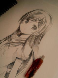 random schoolgirl by Ryothae.deviantart.com on @deviantART