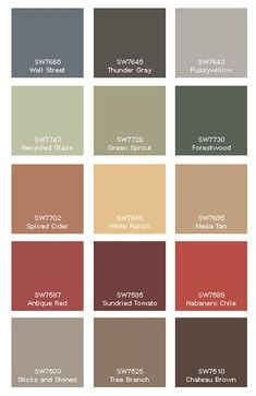 House paint color schemes exterior bedrooms for 2019 Fall Paint Colors, Paint Color Palettes, Paint Color Schemes, Paint Colors For Home, Warm Colors, Tuscan Paint Colors, Pottery Barn Paint Colors, Primitive Paint Colors, Foyer Paint Colors