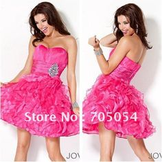 Clean and Fresh Looking Empire Strapless Hot Pink Prom Dress Short on AliExpress.com. 5% off $89.35