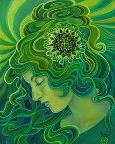 Etsy EmilyBalivet Green Goddess 8x10 Print - Stylehive