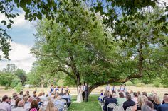 Sweet outdoor ceremony at Deer Park Manor in Bloomington, Indiana by Tall and Small Photography