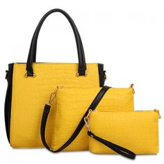 Gorgoeus Color Block and Crocodile Print Design Tote Bag For Women #women, #men, #hats, #watches, #belts