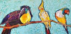 Birds Collage Painting by Elizabeth St. Hilaire Nelson