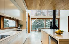 'Minimal Interior Design Inspiration' is a weekly showcase of some of the most perfectly minimal interior design examples that we've found around the web - all Design Your Kitchen, Contemporary Kitchen Design, Kitchen Designs, Interior Design Examples, Interior Design Inspiration, Design Ideas, Wooden Facade, Interior Architecture, Building A House
