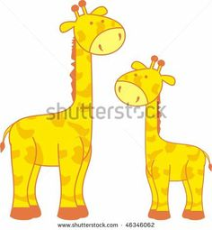 Giraffe Cartoon Drawings | cartoon giraffe in vector format very easy to edit - stock vector