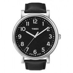 Timex Originals Men's Quartz Watch with White Dial Analogue Display and Black Leather Strap Best Watches For Men, Amazing Watches, Cool Watches, Wrist Watches, Elegant Watches, Casual Watches, Timex Indiglo, Easy Reader, Timex Watches