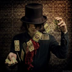 """--- the sketchy guy in the """"dark circus/carnival"""" whom even none of the other performers fully understands - mysterious, smooth, playing tricks. Dark Circus, Circus Circus, Circus Theme, Gothic Fashion Photography, Fantasy Photography, Circus Photography, Steampunk Photography, Whimsical Photography, Halloween Photography"""