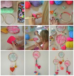 Take a look at these great 19 DIY activities for kids - Crafts - Tips and Crafts Party Activities, Activities For Kids, Diy For Kids, Crafts For Kids, Diy And Crafts, Arts And Crafts, Spoon Art, Sleepover Party, Dreams Catcher