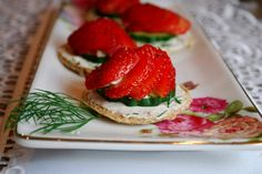 Philly Strawberry Tea Sandwiches with a Twist