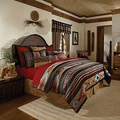 Capture The Charm Of The Southwest With The Veratex Santa Fe Comforter Set.  This Lightweight