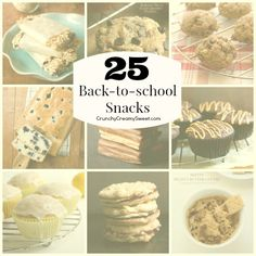 Back-to-school Snack Ideas - a collection that will make the crazy time of back-to-school just a little bit easier!
