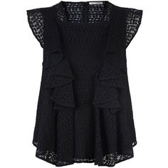 Rebecca Minkoff Mavis Lace Frill Top (4,440 MXN) ❤ liked on Polyvore featuring tops, blouses, shirts, lacy blouses, lace ruffle shirt, ruffle top, flounce tops and rebecca minkoff