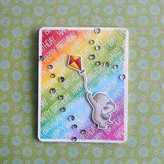 I was thinking rainbow! For this card I used the Adorable Elephants stamp set from My Favorite Things and I watercolored the background. I ...
