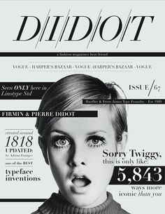 why didn't i think of this last year for my type 1 final poster on didot.....